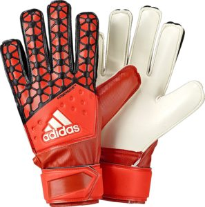 Adidas Ace Fingersave junior goalkeeper gloves.