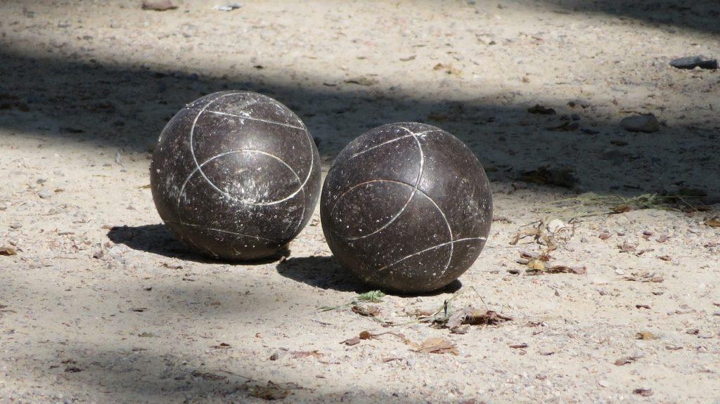 Bocce balls.