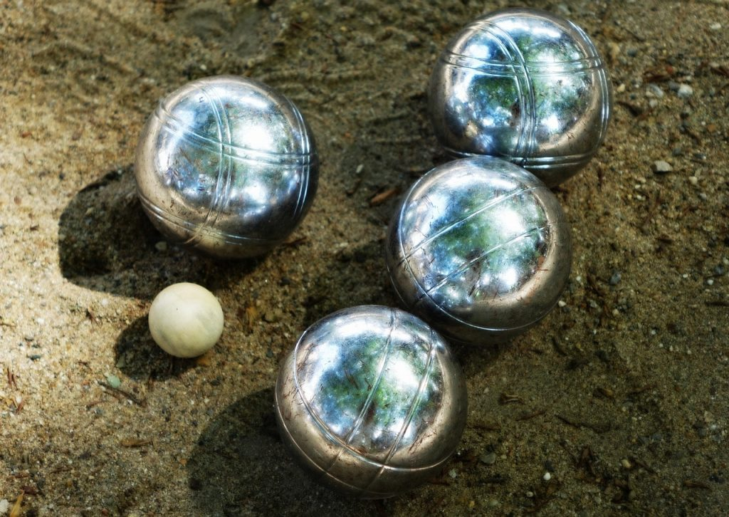 Bocce ball set.