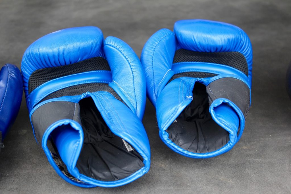 Beginners' boxing gloves.