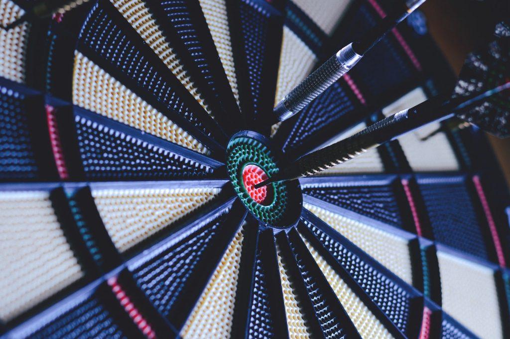An electronic dartboard.