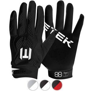 EliteTek E17 football gloves.