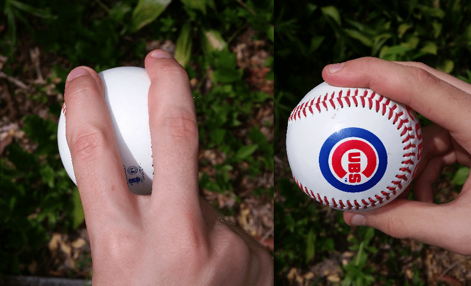 How to grip a fastball in baseball.