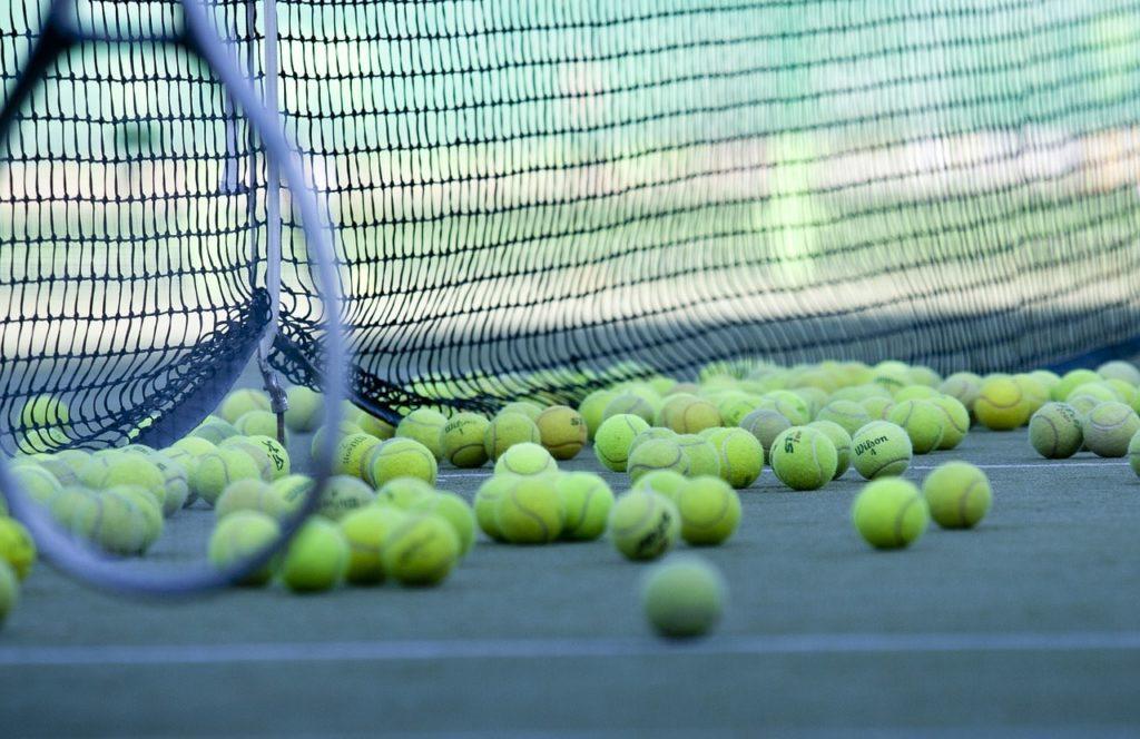 Tennis balls.