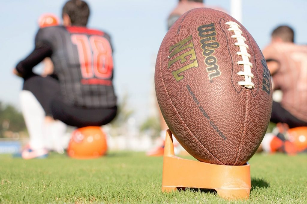 Football on a tee.