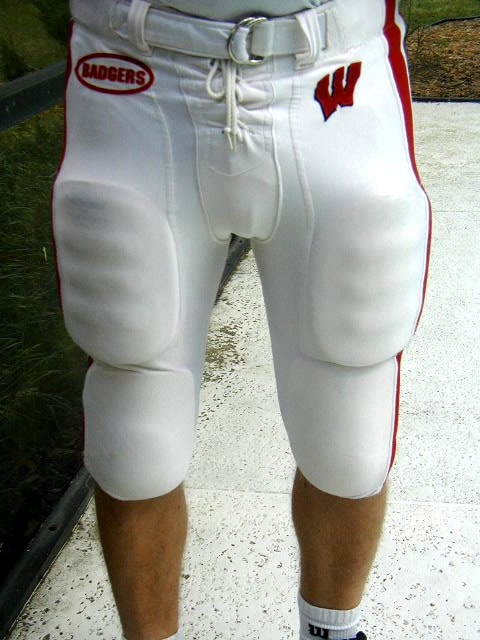 Football girdle worn under pants.