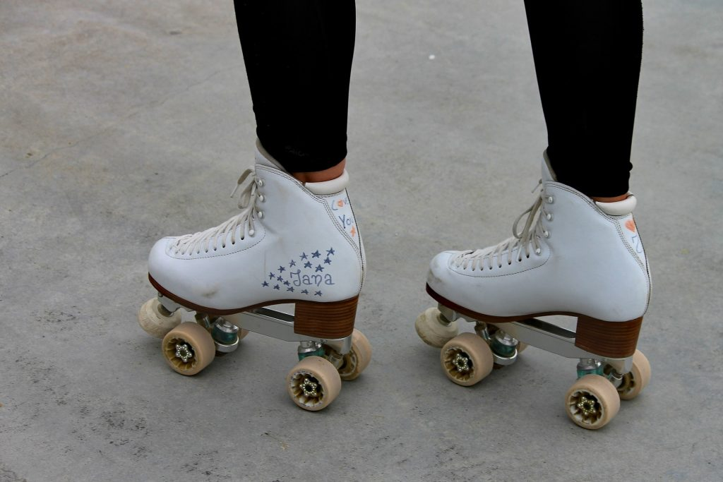 High top quad roller skates.