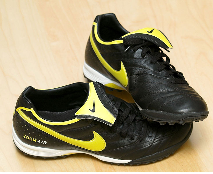 Nike Zoom turf soccer shoes.
