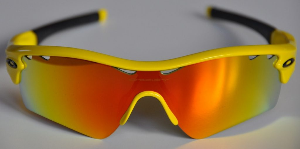 Oakley wraparound sunglasses.
