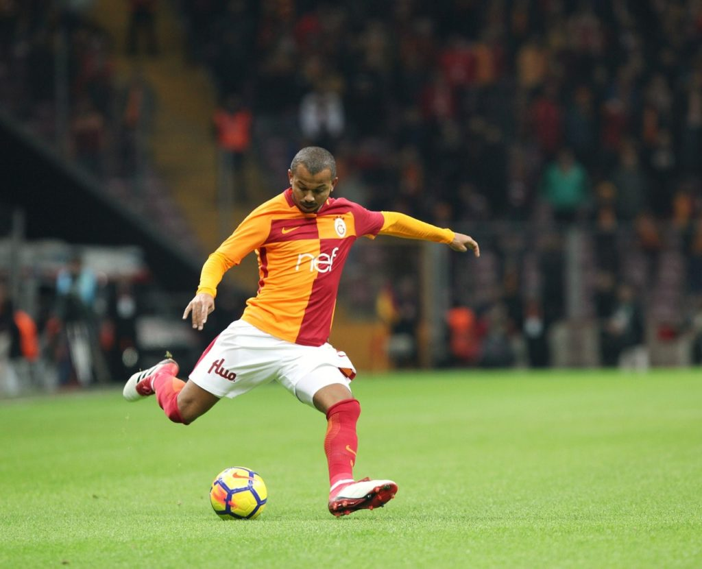Adidas Predator 18.2 soccer cleats being worn by Mariano Ferreira Filho of Galatasaray.