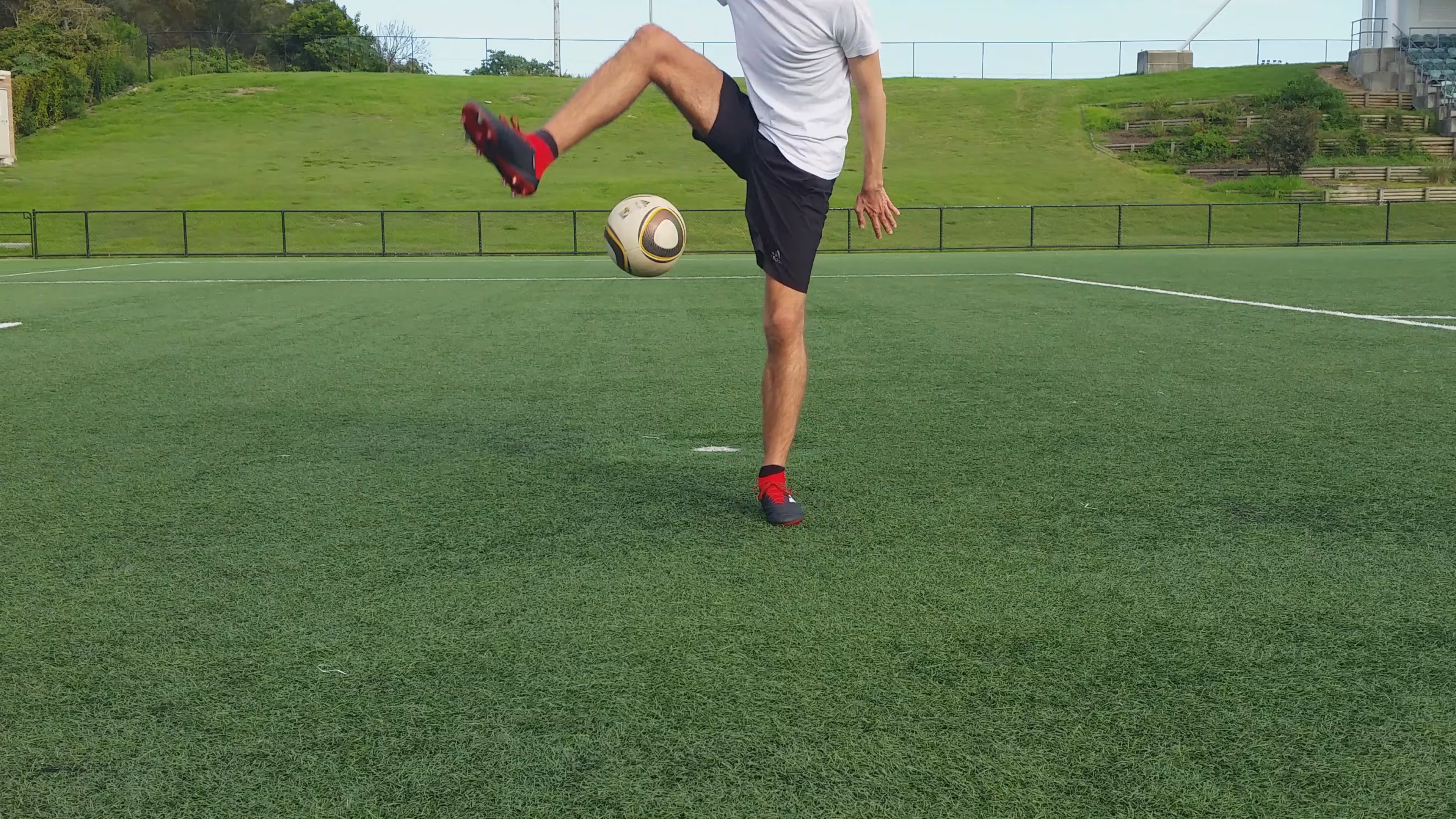 Around the world freestyle soccer trick.