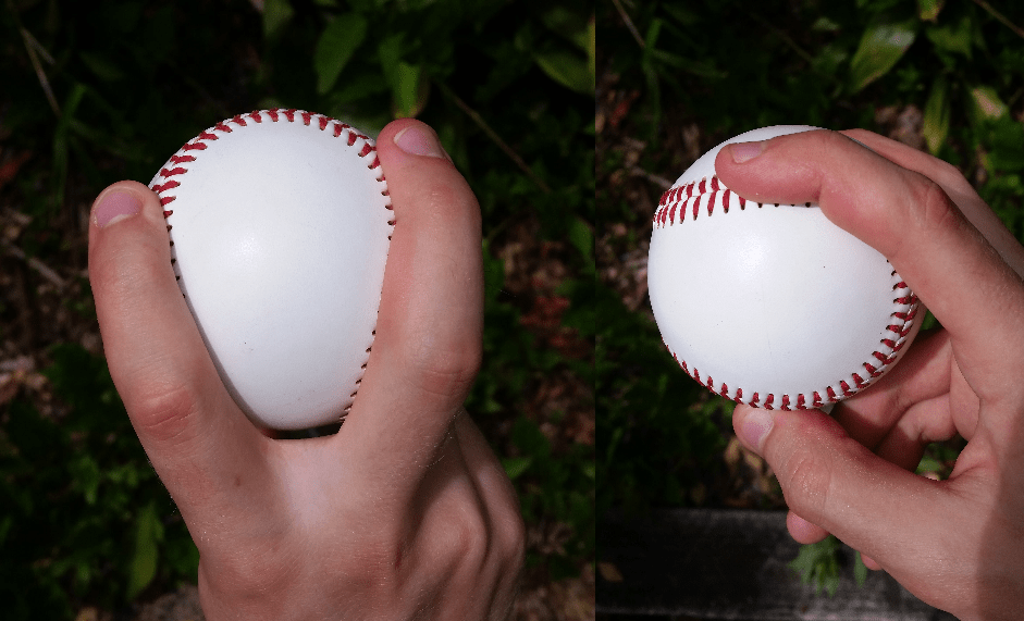 How to grip a splitter in baseball.